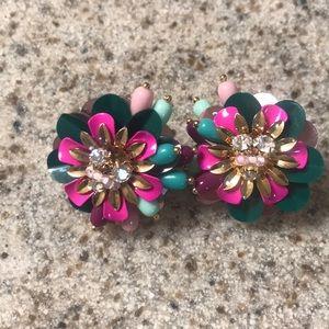 Kate spade floral earrings. Never worn.